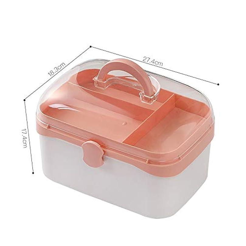 配送大理石フルーツ野菜NYDZDM 二重層の救急箱、家、旅行、キャンプ、オフィスおよび職場のための薬箱の貯蔵の雑貨箱 (Size : S)