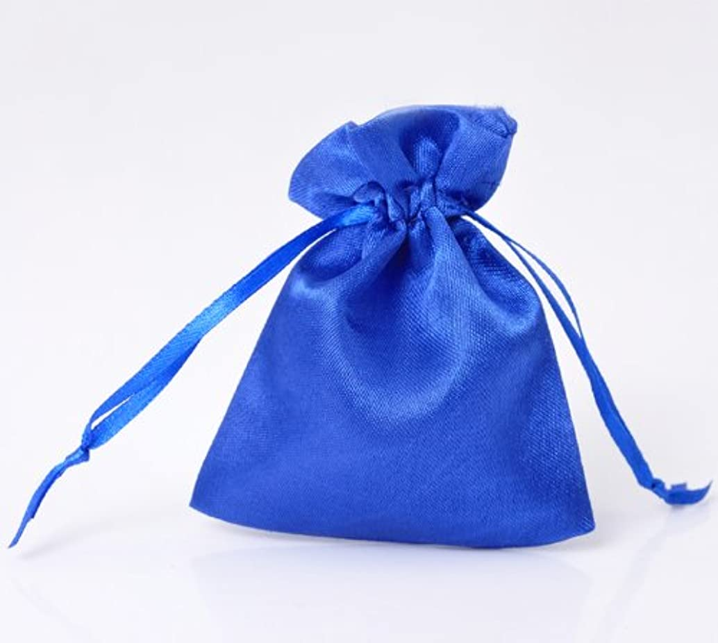 PEPPERLONELY Brand 30PC Blue Satin Gift Bags Draw String 10x8cm(3-7/8 x 3-1/8)