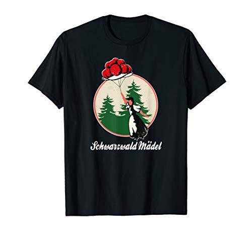 Schwarzwald Mädel, Bollenhut, Tracht Luftballon, Geschenk T-Shirt