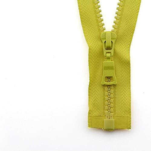 5 # 3pcs 30/40/55/60/70/80/90cm Open-end auto Lock colorido plástico resina cremallera para ropa ropa ropa-amarillo, 5#, 60cm