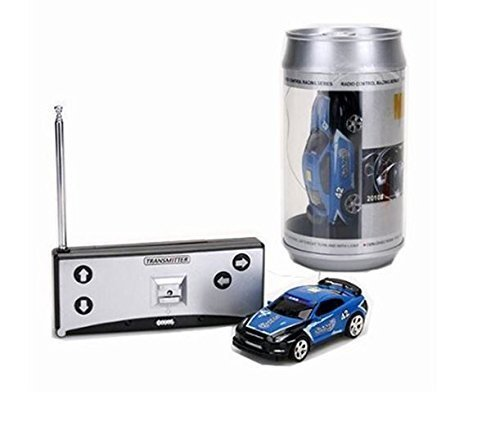 Coke Can Mini RC Radio Remote Control Micro Racing Car 4 Frequencies (Blue) by Youngstore