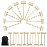WMSD Martillo de cangrejo de madera o langosta de 24 piezas de martillo de cangrejo de madera maciza natural para agrietar herramientas de mariscos