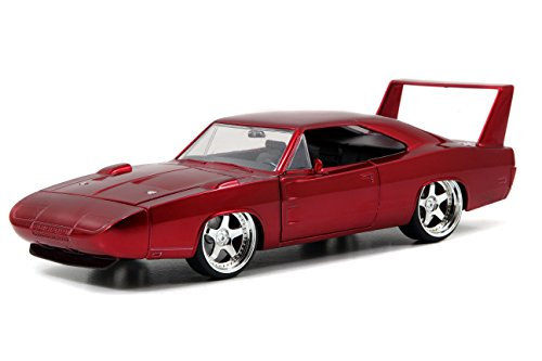 Jada Toys Fast & Furious 1969 Dodge Charger Daytona Die-Cast Vehicle 1:24 Scale Glossy Red