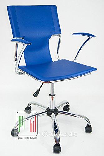 Stil Sedie - Poltrona Sedia Ufficio Girevole Modello Orion BLU