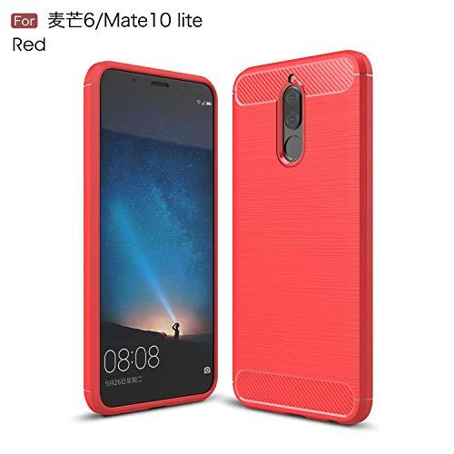 Funda Protector Case TPU Carbon Fiber Uso Rudo Para. Huawei Mate 10 Lite RNE-L03. Incluye Cristal…