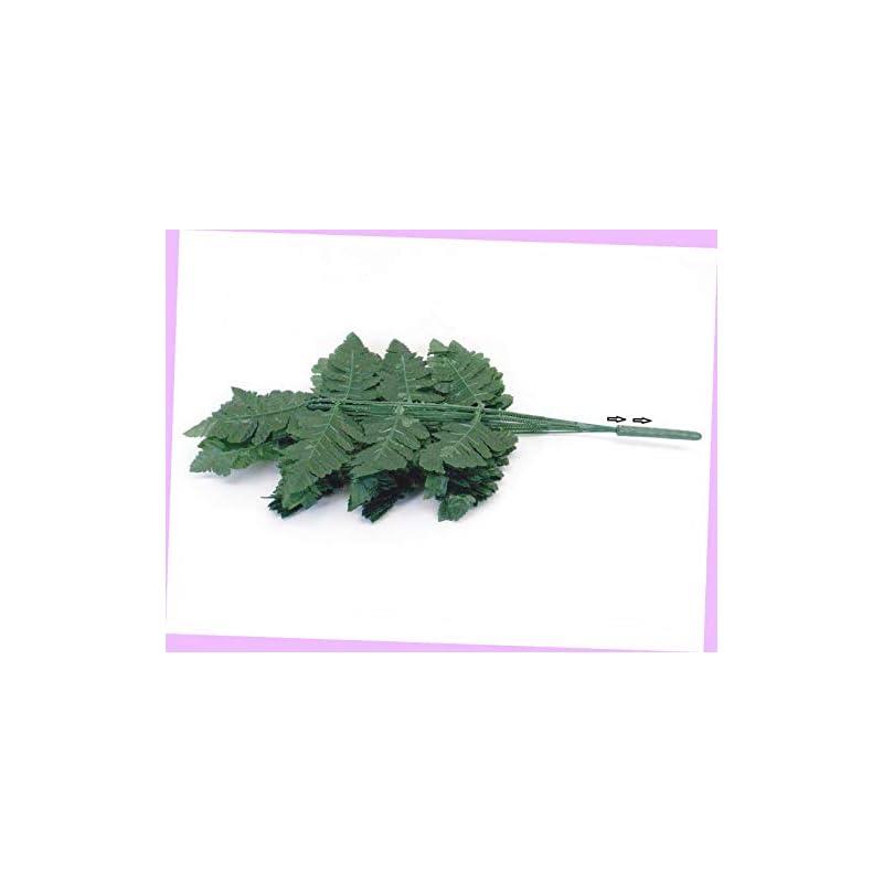 "silk flower arrangements artificial 24 sprays green leather fern artificial silk leaves 18"" greenery 5665gn flowers bouquet realistic flower arrangements craft art decor plant for party home wedding decoration"