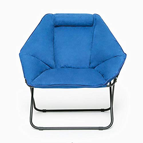 ZZFF Oversize Padded Portable Leisure Sofa Chair with Soft Wide Seat,Stable Comfortable Folding Chair for Camping,Velvet Saucer Chair