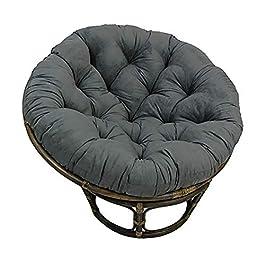 KKLTDI Papasan Rond Coussins De Chaise, Amovible Accroché Oeuf Coussins De Chaise D130cm(51.2 Po.) pour Patio Jardin…