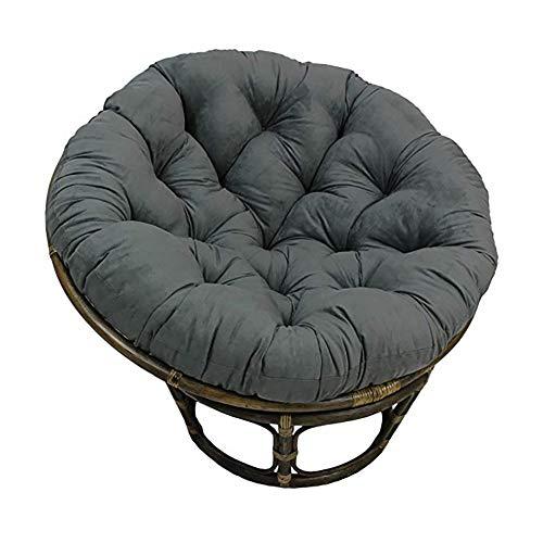 KKLTDI Papasanstoel rond stoelkussen, afneembaar opknoping ei stoelkussen D110 cm (43.3 in) voor terras tuin schommelstoel kussen