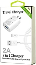 2 in 1 Micro USB Cell Phone Travel Home Charger for VERIZON Motorola Droid RAZR M