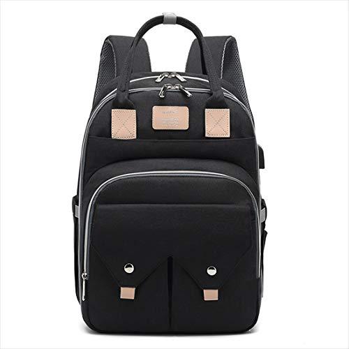 BigForest sac ? main Nappy Changing Bag Sacs ? Dos ? Langer pour B?b? Sac Mummy Backpack Baby Diaper Bag Maternity Tote Handbag black