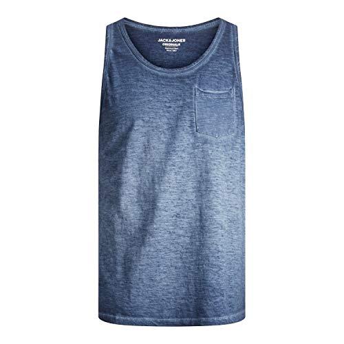Jack & Jones JORCOLD Dye Tank Top SN Camiseta de Tirantes Anchos, Azul Marino. Ajuste: Suelto, S para Hombre