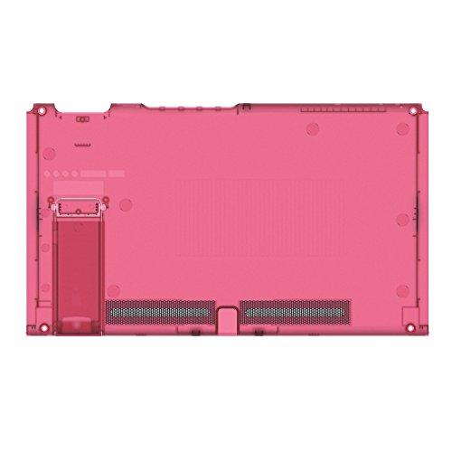 BASSTOP Plaque arrière translucide de remplacement pour console NS NX sans électronique (console - rouge pastèque)