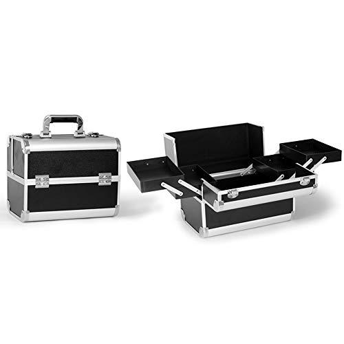 BLWX - Boîte de rangement de bureau de trousse à outils portative de grand sac à cosmétiques professionnel Boîte de rangement cosmétique (Couleur : Noir, edition : B)