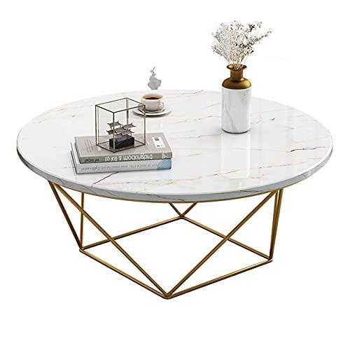 Mesa de centro de mármol, mesa redonda creativa, mesa de aperitivos, mesa auxiliar de sofá, mesa de diálogo, mesa de centro, mesita de noche/A / 70cm
