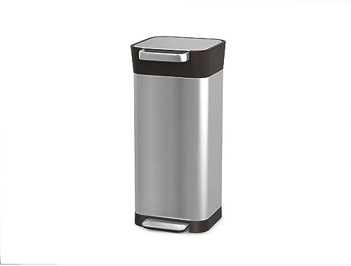 Joseph Joseph 30037 Titan Trash Compactor Kitchen Bin, Stainless Steel, 20