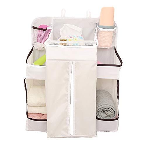 Pannolino Organizzatore,Multifunzione Baby Nursery Organizer,Appeso Pannolino Pannolino Caddy,per Fasciatoio, Culla, Passeggino o Parete