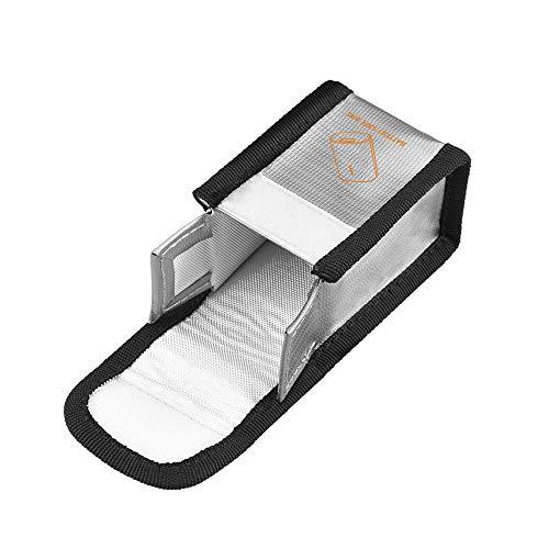 TongYing Bolsa de seguridad para batería, bolsa de batería, bolsa de almacenamiento a prueba de explosiones, de carga de batería Li-po para DJI FPV voladoras, plata 1 piezas