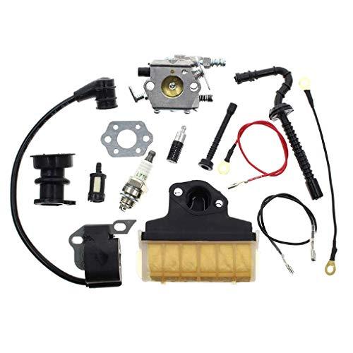 QIANGU Carburador, carburador Stihl 021023025 MS210 MS230 MS250 Motosierra Carb con 1123 160 1