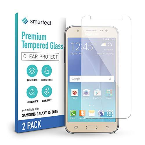 smartect Schutzglas kompatibel mit Samsung Galaxy J5 2015 [2 Stück] - Tempered Glass mit 9H Härte - Blasenfreie Schutzfolie - Anti-Kratzer Displayschutzfolie