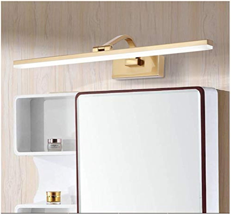 HARDY-YI LED-Spiegel-Scheinwerfer Moderne, minimalistische Badspiegelleuchten Badezimmer Feuchtigkeitsfeste Spiegel-Scheinwerfer (Farbe   9W41CM, gre   Weies Licht)