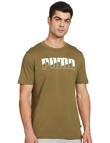 Puma Rebel Bold, Maglietta Uomo, Verde (Burnt Olive), L