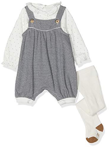 Petit Bateau Baby-Mädchen Ensemble 3 Pieces_5043000 Bekleidungsset, Mehrfarbig (Variante 1 00), 56 (Herstellergröße: 1M/54cm)