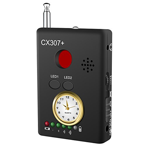 Dooreemee Drahtloser RF Signal Detektor Spy Finder (Plus), Schnurloser Kamera Finder GPS Tracker Wanzendetektor, Empfindliches GSM Wanzenfinder Suchge