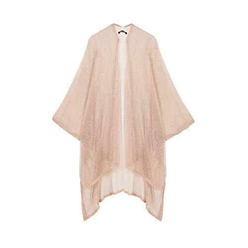 Parfois - Kimono De Punto Abierto - Mujeres - Tallas Única - Dorado
