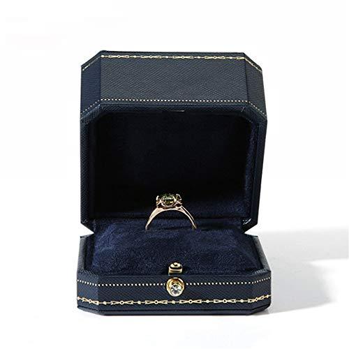 Yzibei Elegante juwelendoos voor de verlovingsring, halsketting met juwelenkistje gemaakt van achthoekige behuizing
