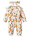 Mono de bebé 0-18 meses niñas princesa flores ropa de manga larga MC131-02_18M