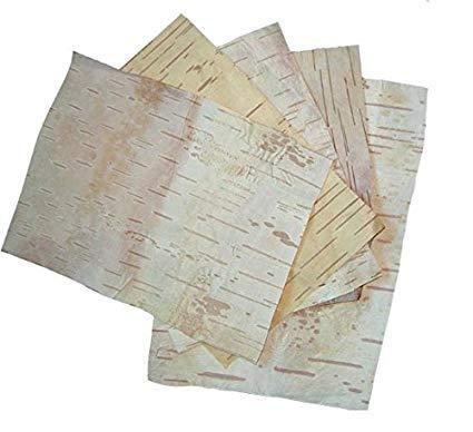 VRINDAVANBAZAAR.COM Bhoj Patra Bhoj-Patra (Betula Utilis Bark) Original Bhojpatra Sheet for Mantras and Puja Set Bhojpatra Sheet (5 in 1)