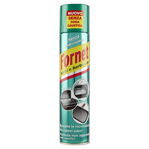 Fornet Sgrassatore Spray per Forni e Barbecue, Formula non Aggressiva, Senza Soda Caustica, 300ml