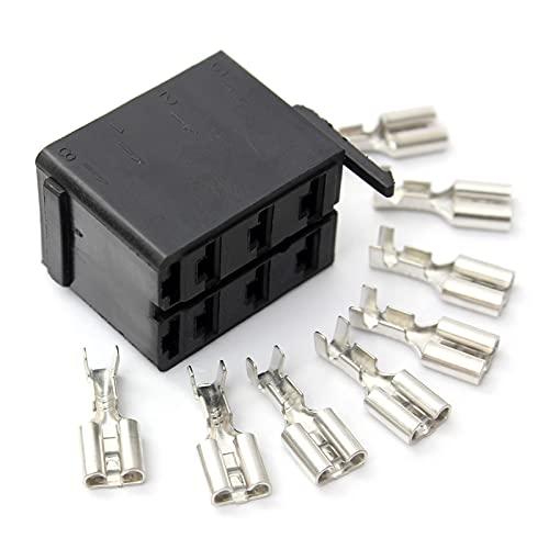 happy time Conectores de terminales de Espada Hembra de aleación ABS de 4set 8X Ajuste para el Enchufe del zócalo ARB Carling BOCKER Switch