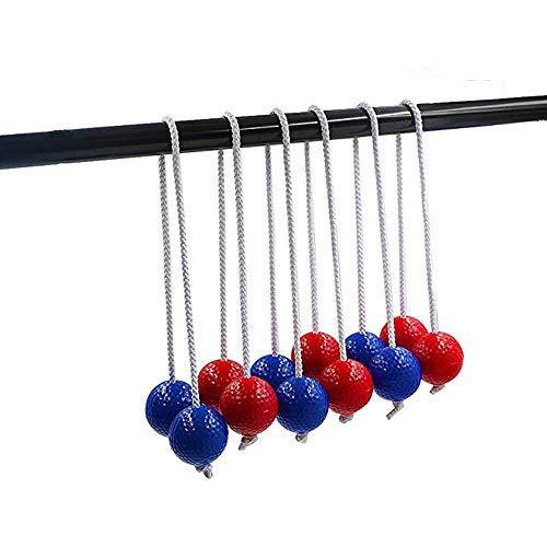 CRESTGOLF Leitergolf Bälle Leiter-Golfball für Wurfspiel Toss Bolas, Ladder Toss 6 Pairs Leiter Golfball Toss Bolas Set Ersatz Sportbälle(Rot und Blau)