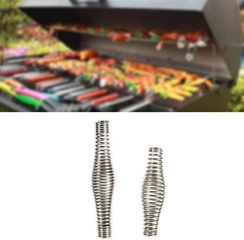 Yosoo Health Gear Lente Handgrepen voor Barbecue Grills, Fornuis Lente Handvat RVS Handvat Lente voor BBQ Grills Rokers Ovens Kolen Hout Pellet Kachels Ketels 14cm 14 cm.
