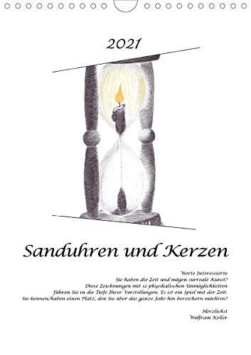 Sanduhren und Kerzen (Wandkalender 2021 DIN A4 hoch)