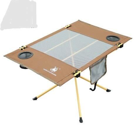 Table HDS Extérieur Fold d'extérieur Meubles de Camping mesa portatil mueble Camping Pliable Portable Bureau Fold de Pique-Nique mesa plegable Nouveau Outdoor Fold (Color : Chocolate)