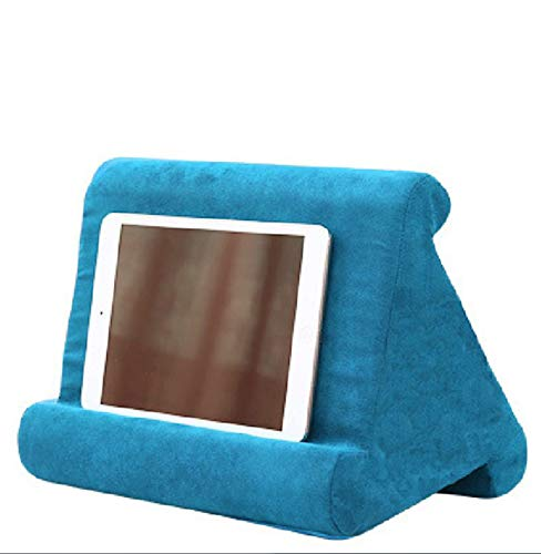 XINYA BAO Tablet Holder Laptop Cushion Tablet Cushion Multi-Angle Knee Stand with Soft Cushion for iPad, Tablet, E-Book Reader, Smartphone, Books and Magazines, 8 Colours Blue sea