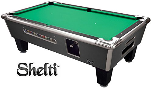 Read About Shelti Bayside Coin Op Pool Table-Charcoal - 93