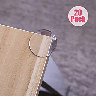 EUDEMON Baby Safety 20 Pack Clear Round Furniture Table Corner Protectors Corner Bumpers Corner Edge Guards Stop Children Head Injured for Childproofing