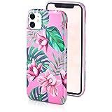 motivoo Flores Carcasa para Móvil Compatible con iPhone 11 Mate Slim Design Bumper Case con Dibujos iPhone 11 Funda siliconaa Flowers Orquídeas Rosadas