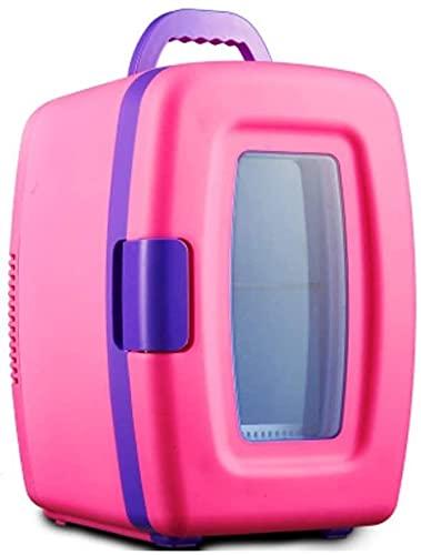 LXNQG Bebidas Refrigeradores Mini refrigerador Refrigerador eléctrico y Calentador AC/DC Sistema termoeléctrico portátil con USB Mobile Power Opción en Cualquier Lugar (Rosa) (Color: Rosa) Jianyou (