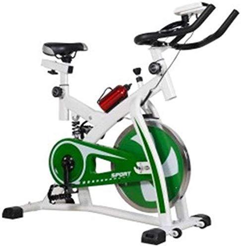Gpzj Cinghia Bici Spin Bike, con sensore pulsazioni Display LCD Comodo Sedile e Maniglie Resistenza Regolabile con Display LCD per Donna e Uomo
