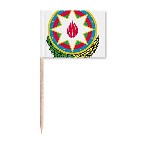 Baku Aserbaidschan Nationalemblem Zahnstocher Flaggen Marker Topper Party Dekoration
