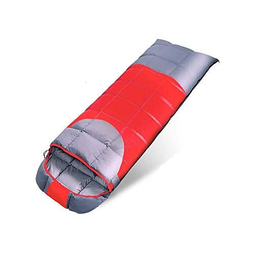 ZOUJIARUI Bolsa de Dormir para Acampar + Almohada de Viaje con Bolsa de Dormir de compresión compacta para Adultos y niños  Ligero Caliente y Lavable, para Caminatas Que viajan. (Color : C)