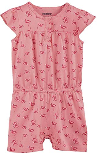 lupilu® Baby Mädchen Sommerbody Jumpsuit, Reine Baumwolle (rosa Flamingo, Gr. 74/80)