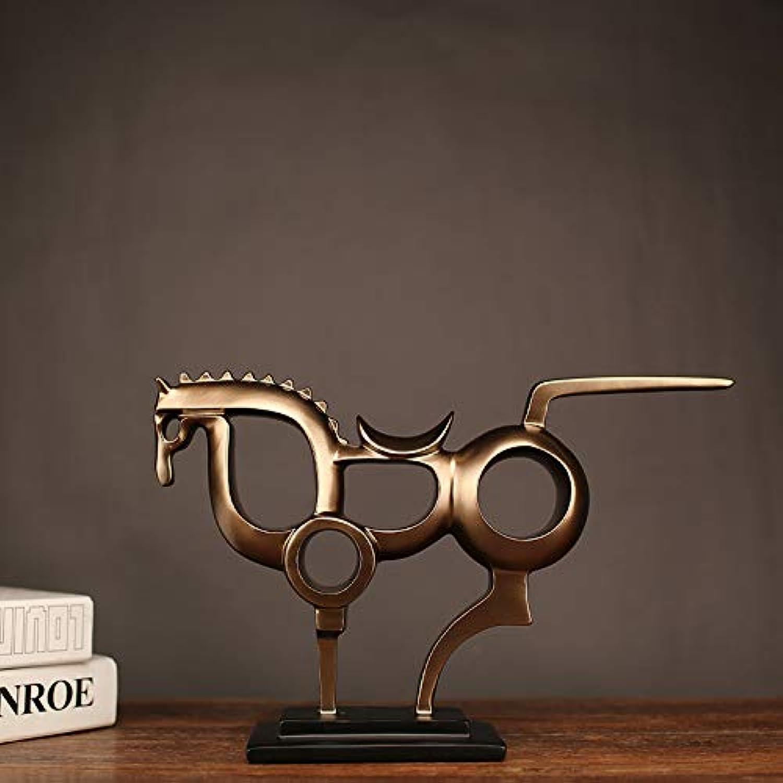Tienda de moda y compras online. Oranment escultura escultura escultura de resina, ceremonia creativa de oro, decoración de escultura de resina de caballo de guerra hueco  ganancia cero