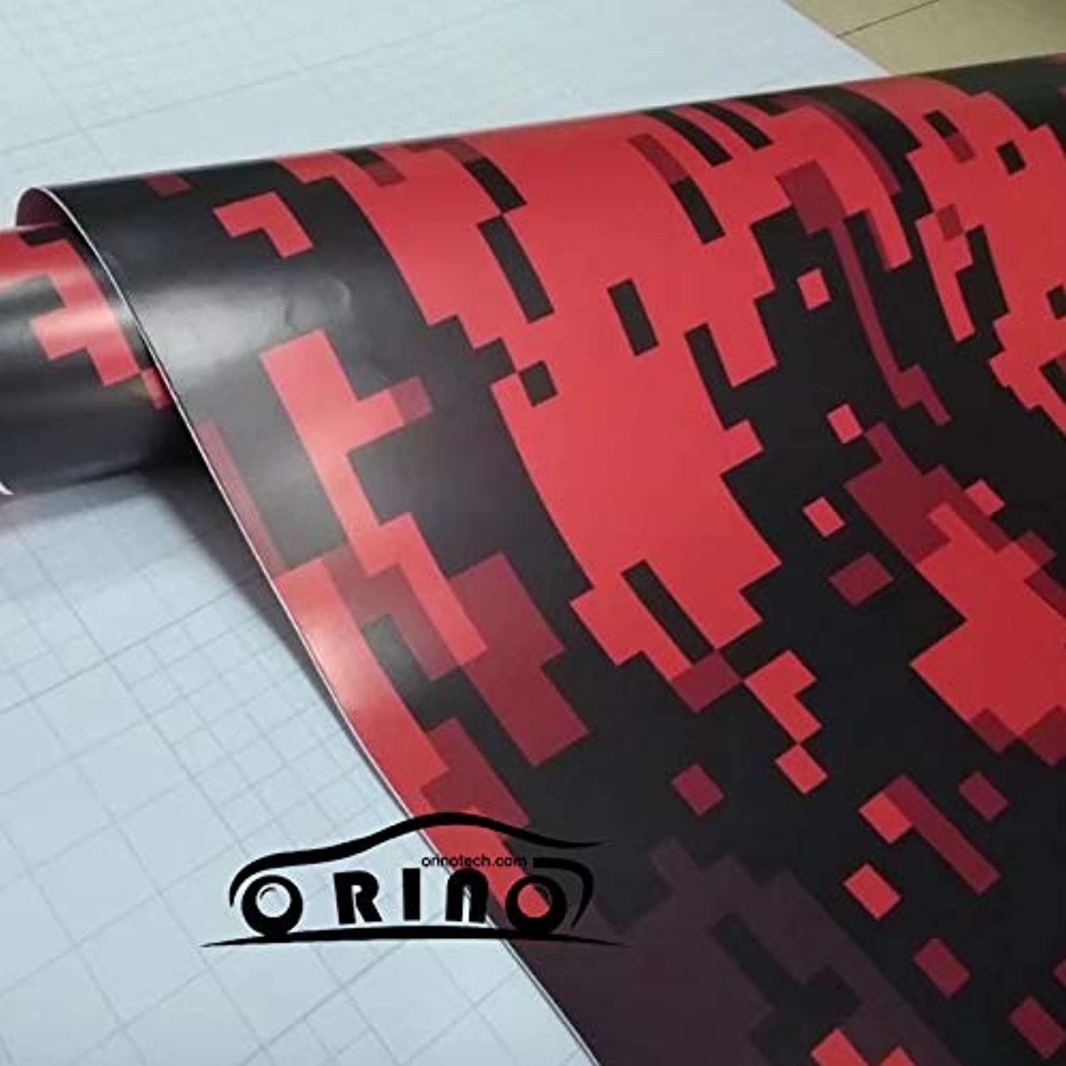 Red Black Digital Military Vinyl Wrap Film with Air Bubble Free Motorcycle Car PVC Vinyl Wrap Wrapping  (Size  152CMx15M 5X49FT)