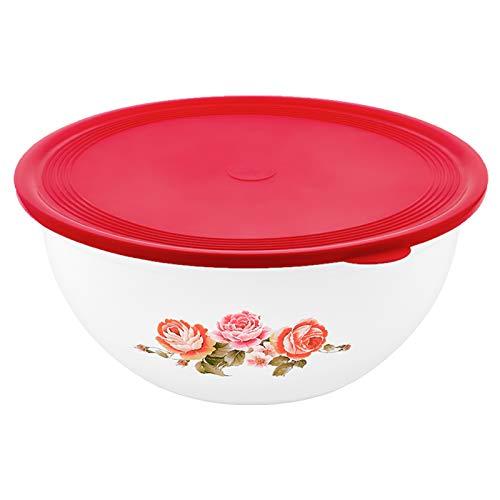 Hefeteigschüssel mit Plopp-Deckel 6l | BPA-freie Bowl | Teigschüssel Rührschüssel Salatschüssel Groß Schüssel Deckel Teigwanne Plastikschüssel Salat Hefe Mischungen (Weiß, 6l)